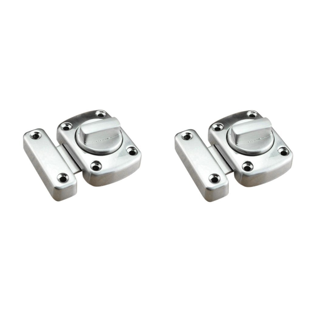Homyl 2Pcs Rotate Bolts Latches Safety Door Locks, Bathroom Privacy Gate Latches