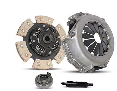 Clutch Kit Works With Mitsubishi Mirage Eagle Summit Talon Dodge Colt Hyundai Sonata Base Gl Gls 1987-2002 1.6L 2.0L l4 GAS DOHC 1.8L l4 GAS SOHC Naturally Aspirated (6-Puck Clutch Disc Stage 2)