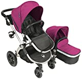 Babyroues Letour Avant Canvas Stroller – Bloom Pink/Silver