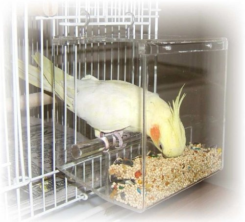 Tidy Seed No-Mess Bird Feeder, Small - Inside Cage