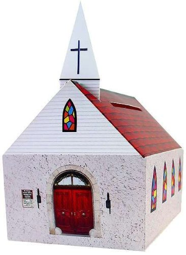Church Shaped Donation Banks Cardboard Package of 24