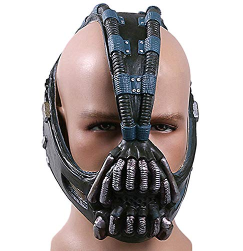 JCvCX Bane Mask Horrible Halloween Costume Helmet Masqurade Latex Blue ()