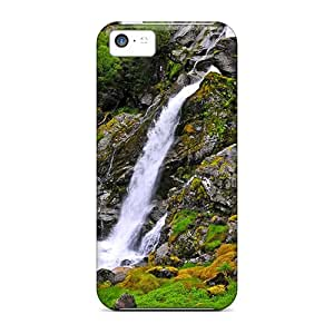 [CAQ3767rVbV]premium Phone Case For Iphone 5c/ Lovely Mountain Waterfall Hdr Tpu Case Cover