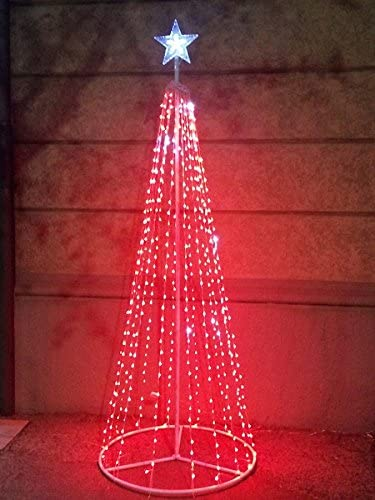 bianco caldo LED di albero di Natale per pennone 8m 640LED