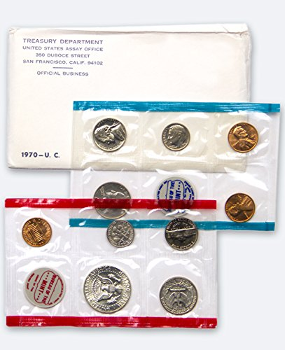 1970 US 10 Piece Mint Set In original packaging from US mint Uncirculated (1970 Mint)