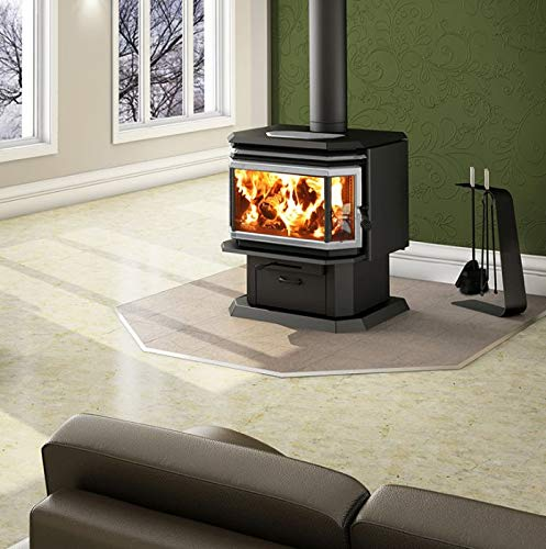 - Osburn 2200 Wood Stove w/Brushed Nickel Louver and Door Overlay