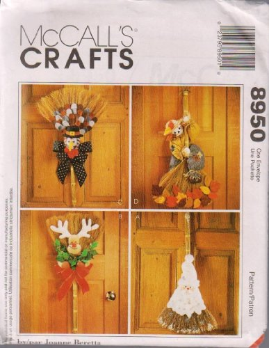 McCall's Crafts Sewing Pattern 8950 ; Holiday Halloween Christmas Decorative Brooms