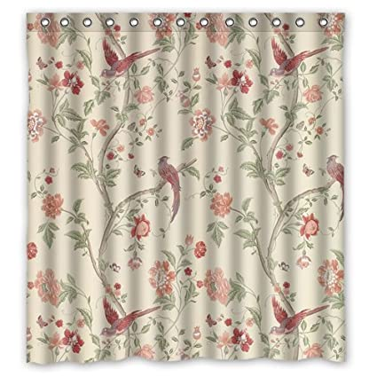 Amazon Shower Curtain With Summer Palace Cranberry Design 100