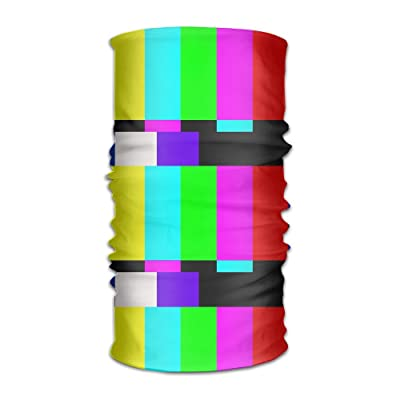 Shadidi Unisex Television Stripe Multifunction Changed Headwear Headscarf Bandanas