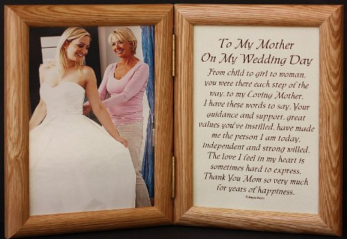 Amazon.com - 5x7 Hinged TO MY MOTHER ON MY WEDDING DAY Poem ~ Photo ...