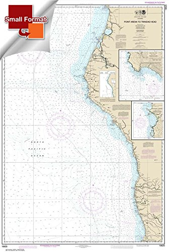 Paradise Cay Publications NOAA Chart 18620: Point Arena to Trinidad Head; Rockport Landing; Shelter Cove 21.00 x 31.28 (SMALL FORMAT WATERPROOF) ()