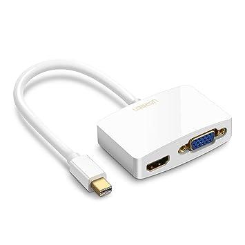 UGREEN Adaptador Mini DisplayPort a HDMI y VGA, Adaptador ...