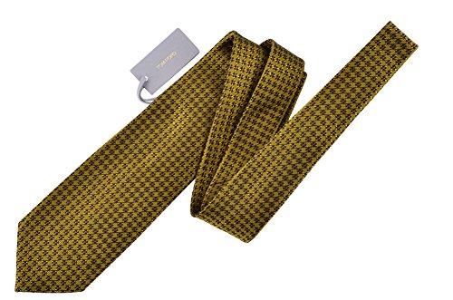 Tom Ford Gold Geometric Silk Neck Tie by Tom Ford..