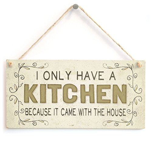 Meijiafei I Only Have A Kitchen Because It Came with The House – Beautiful Funny Mum Mother Wife Home Accessory Gift…