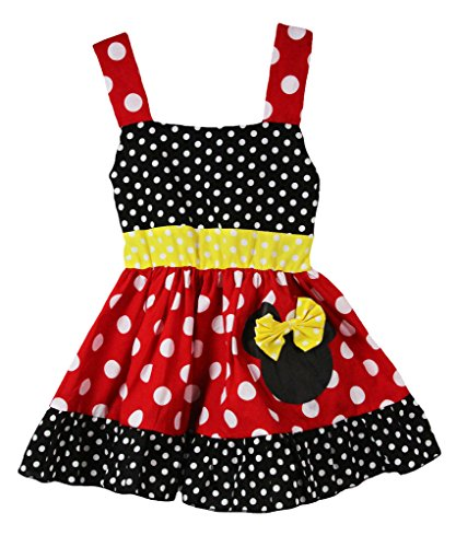 Wholesale Princess Red & Black Sleeveless Minnie Mouse Halloween Costume-4T (Minnie Outfit)