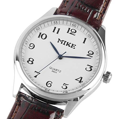 Reloj de piel cuarzo reloj de los hombres blancos/pareja: Amazon.es: Relojes