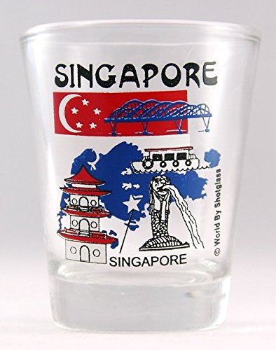 Singapore Landmarks Collage Shot - Singapore Glasses
