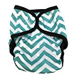 cloth diaper inserts fuzzi bunz - BB2 Baby One Size Printed Black Gussets Snaps Cloth Diaper Cover for Prefolds (One Size, Aqua & White Chevron)