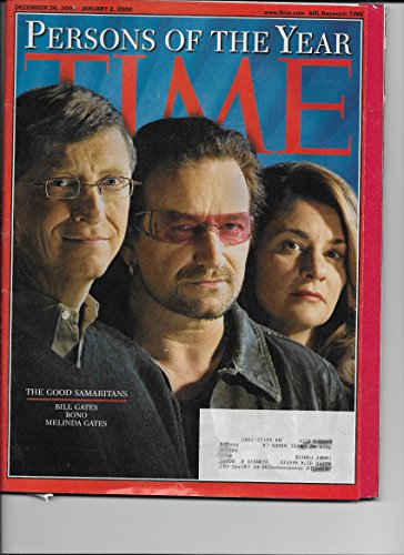 Time Magazine December 26 2005 / January 5 2006 Persons of the Year Bill Gates Bono Melinda Gates (People Magazine Person Of The Year 2006)