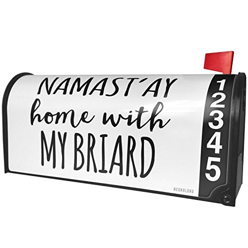 - NEONBLOND Namast'ay Home My Briard Simple Sayings Magnetic Mailbox Cover Custom Numbers