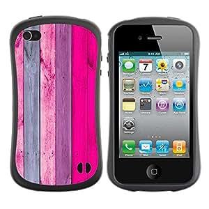 LASTONE PHONE CASE / Suave Silicona Caso Carcasa de Caucho Funda para Apple Iphone 4 / 4S / Pattern Vertical Pink