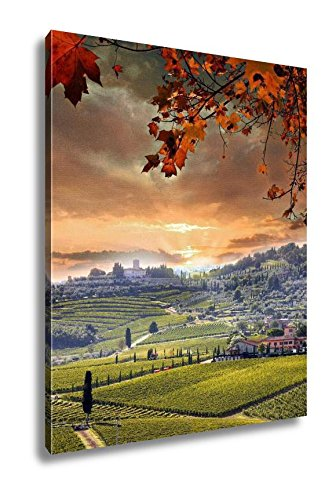 Ashley Canvas Chianti Vineyard Landscape In Tuscany Italy, Wall Art Home Decor, Ready to Hang, Color, 20x16, AG5585764