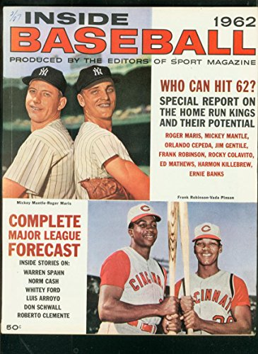 INSIDE BASEBALL YEARBOOK-1962-MICKEY MANTLE-ROGER MARIS FN/VF