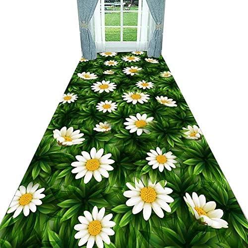 階段 滑り止めマット 廊下のカーペット ランナー ラグ カスタマイズ可能 柔らかい 密パイル ランナー ラグ 廊下 ホール 花柄 、 ブレンド 、 2種類 階段マット (Color : D, Size : 0.6x4m)