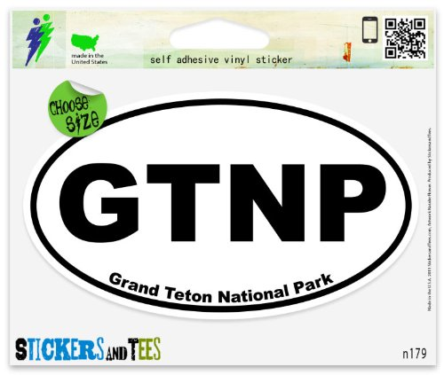 Grand Teton National Park oval Vinyl Car Bumper Window Sticker 3