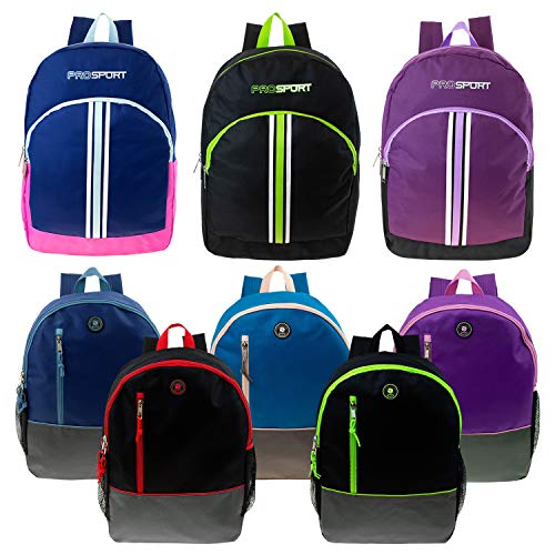 """16"""" and 17"""" Wholesale Kids Sport Backpacks in 8 Styles - Bul"""