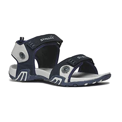 d317f9bfb6e5df PARAGON Men Blue & Grey Stimulus Sports Sandals: Buy Online at Low Prices  in India - Amazon.in