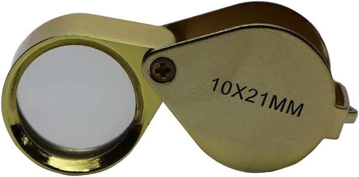 Pocket Mini 10X Folding Jewelry Magnifier Magnifying Eye Glass Loupe Lens SX