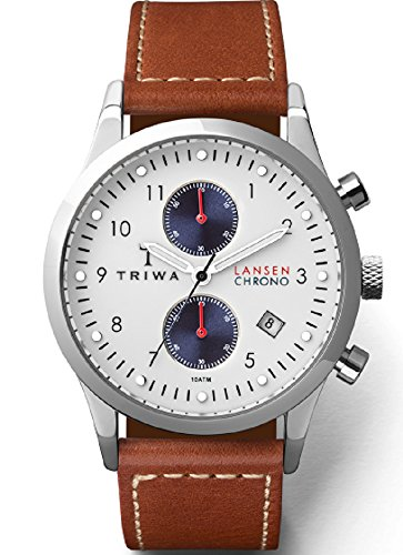 Triwa Duke Lansen Chrono Unisex Watch Brown Leather Strap LCST113 SC010215