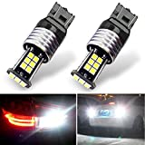 Botepon 1600 Lumens Extremely Bright 7443 7440 7441 7444 992 Led Backup Lights Bulb, 3030 24-SMD Led Bulb for Car Led Backup Reverse Lights 12V 24V (Pack of 2)