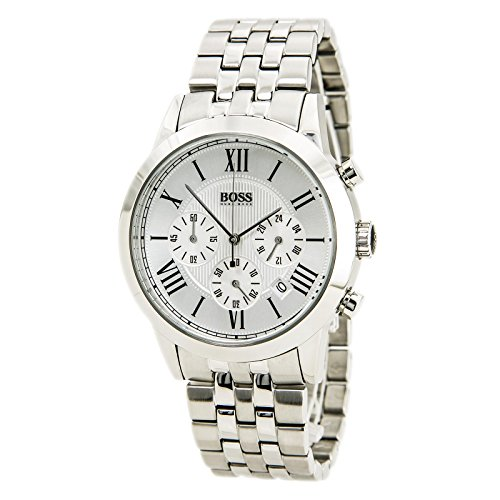 Hugo Boss Chronograph Silver Dial Stainless Steel Mens Watch 1512571