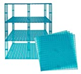 Premium Clear Turquoise Stackable Base Plates - 4 Pack 10