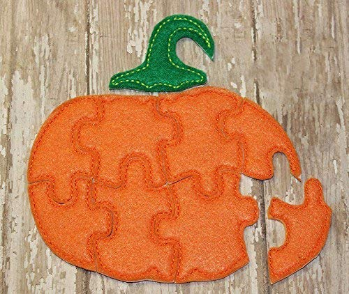 Pumpkin Felt Jigsaw Puzzle For Toddlers, Educational Learning Activity Toys, Party Favors