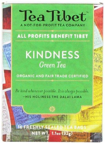 Tea Tibet Tea, Green Kindness, 16 Count ()