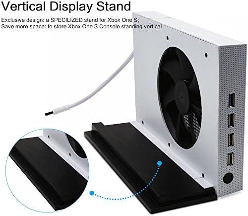 LeSB Xbox One S Ventilador de Soporte Vertical y 4 Puertos USB Hub para Xbox One S: Amazon.es: Electrónica