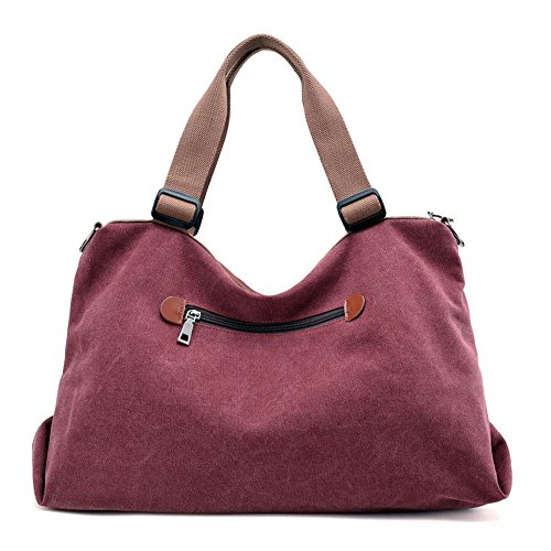 Ladies Large Color Shoulder Handbag Bags Storage Bag Commuter Solid Leisure Xuanbao capacity Retro Crossbody Mosaic Womens Canvas Hobo Female Totes x4zER