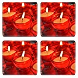 Liili Square Coasters Non-Slip Natural Rubber Desk Pads IMAGE ID: 21694859 candles in catholic church