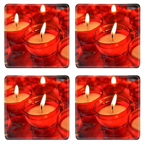 Liili Square Coasters Non-Slip Natural Rubber Desk Pads IMAGE ID: 21694859 candles in catholic church by Liili