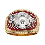 10k Yellow Gold Diamond Shriner Ring