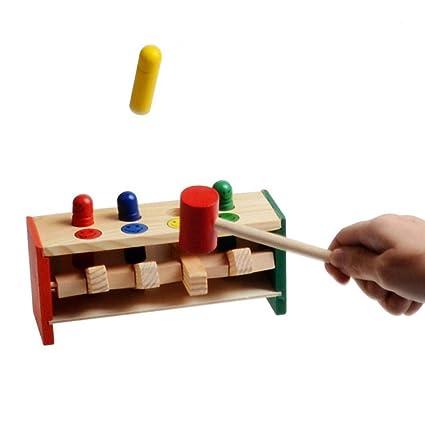 TINGSU - Juguete educativo de madera con mazo para aprender ...
