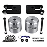 "Supreme Suspensions - F250 Lift Kit 3"" Front Suspension Lift CNC Machined Aircraft Billet + Shock Extenders High-Strength Carbon Steel F250 Leveling Kit Super Duty 4WD 4x4 (Silver) Ford F-250 Lift Kit PRO"