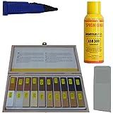Hartwachs Reparatur Set mit Schmelzer,Sprühlack,Hartwachs- Hobel für die Reparatur von Parkett,Laminat,Möbel,Treppen für lackierte und geölte Oberflächen