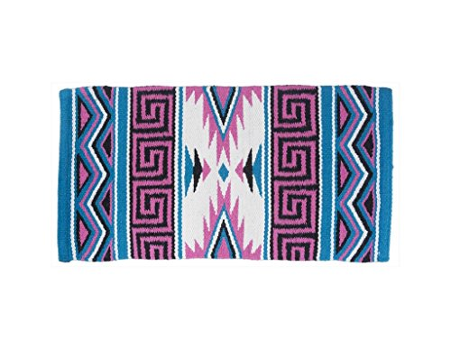 Tough 1 Mayan Navajo Wool Saddle Blanket Pink (Blanket Antique Wool)