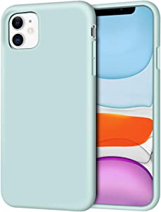 """iPhone 11 Case, Anuck Non-Slip Silicone Gel Rubber Bumper Case with Soft Microfiber Lining Cushion Hard Shell Shockproof Full-Body Protective Case Cover for Apple iPhone 11 6.1"""" 2019 - Mint"""