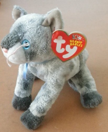 5c0183b8ffb TY Beanie Babies Frisco the Gray Cat Plush Toy Stuffed Animal by G66098974   Amazon.co.uk  Toys   Games