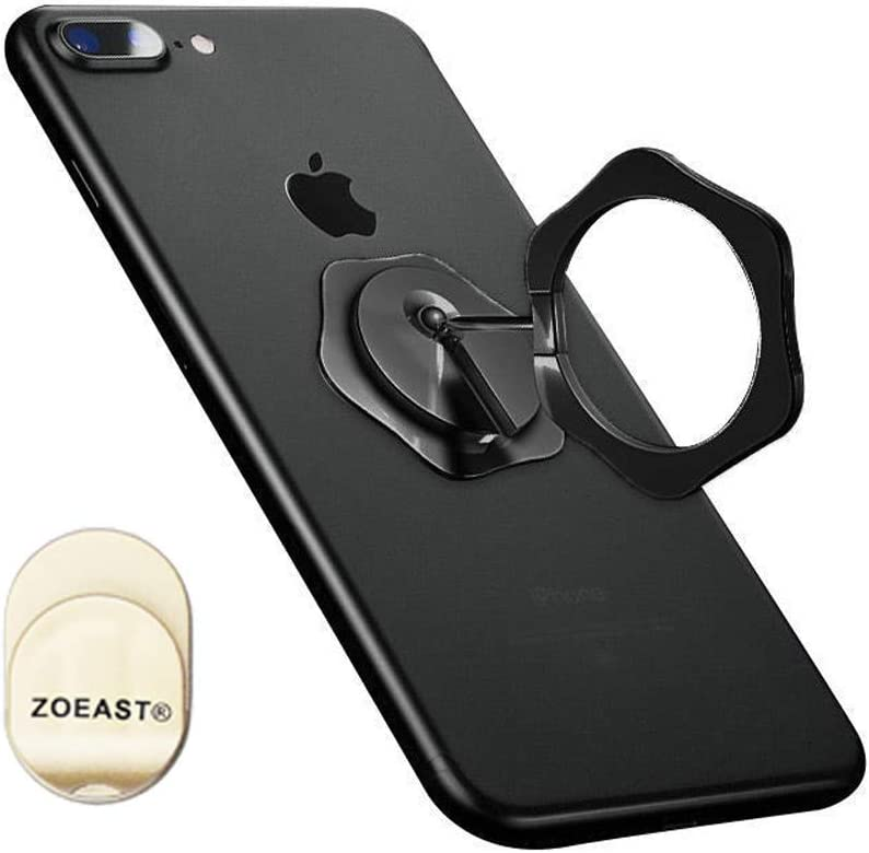 New Rocker Metal Phone Finger Ring Car Magnetic Mount Universal 360/° Adjustable Holder Car Desk Hook Stand Stent Kickstand Compatible with GPS iPhone 11 XS XR Max X 8 Plus iPad ZOEAST TM Gold